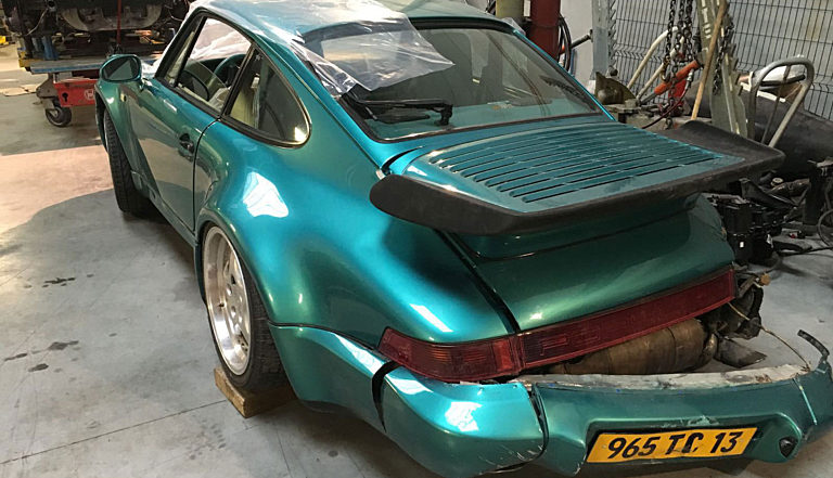Porsche 964 Turbo Green 2 2000 1400