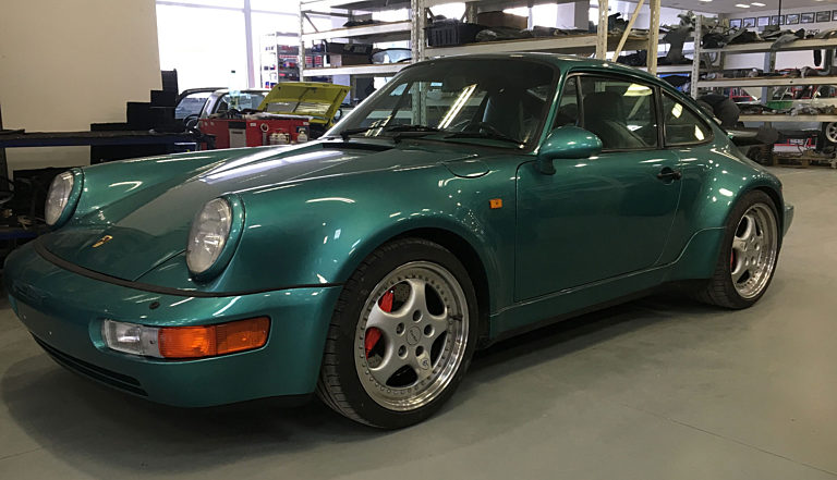 Porsche 964 Turbo Green 21 2000 1400